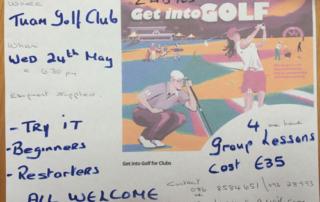 Golf Lessons at Tuam Golf Club