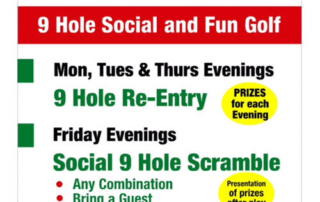 9 Hole Re-entry Competition